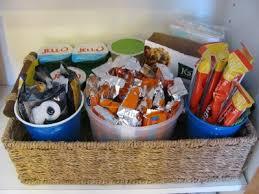 snack baskets organizing a snack basket