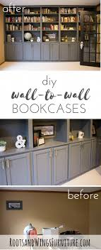 diy kitchen cabinets book diy wall to wall book cases use kitchen cabinets as a base