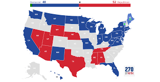 Blank Electoral Map by 2018 Senate Election Interactive Map