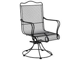 Woodard Iron Patio Furniture - woodard tucson wrought iron high back swivel rocker dining chair