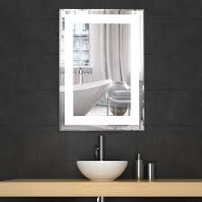 the concept of the lighted wall mirror and its beautiful result
