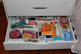 how to organize your beauty products u2014 ikea alex drawer