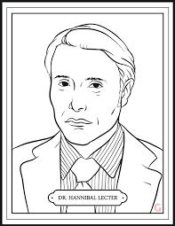 hannibal u0027 returns tonight enjoy this mini coloring book about