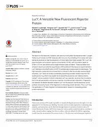 lucy a versatile new fluorescent reporter protein pdf download