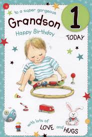 grandson u2013 1st birthday u2013 card ebay