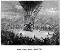siege air siege of 1870 balloon stock photo royalty free image
