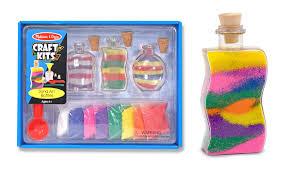amazon com melissa u0026 doug sand art bottles craft kit 3 bottles