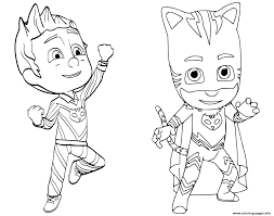 pajama hero connor is catboy from pj masks coloring pages printable