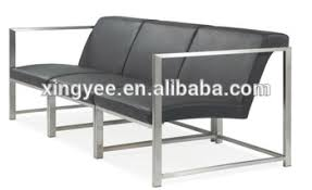 modern living room sectional sofa bench furniture stainless steel