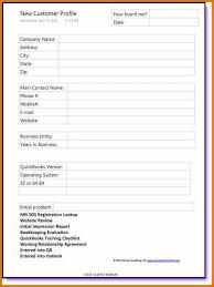 new business client information template new customer account form template node494 cvresume cloud