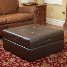 small brown storage ottoman u2013 home improvement 2017 brown