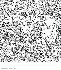 christmas colouring doodle for adults
