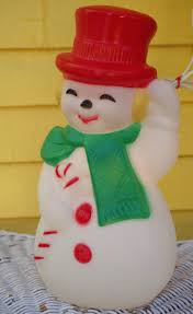 vintage blow mold frosty the snowman light up christmas decoration