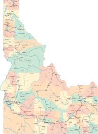 State And County Maps Of State And County Maps Of Idaho Inside Map Roundtripticket Me