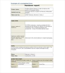 handover report template sle 28 handover template format sle handover report 9 documents in