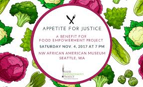 appetite for justice benefit for food empowerment project food