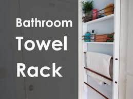Bathroom Towel Shelves Bathroom Towel Rack Diy Project The Homestead Survival