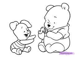 disney coloring pages pooh bear printable for baby