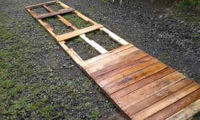Garden Ideas With Pallets Expanding Patio With Repurposed Pallets Repurposed Pallets And