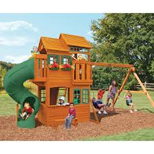 100 big backyard ashberry wood swing set shop wood playsets