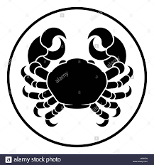 cancer crab horoscope astrology zodiac sign symbol stock photo