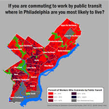 commute map maps philadelphia commuting patters revealed in pretty fashion