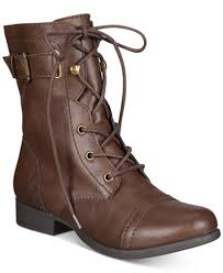macys womens boots size 11 rag fionn lace up combat boots created for macy s