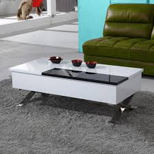 white end table with storage bn design high gloss coffee table white black modern with storage