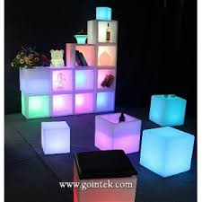 led cubes waterproof outdoor led cube stools