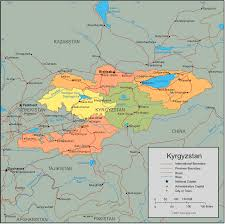 map of germany and surrounding countries with cities kyrgyzstan map and satellite image
