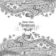 abstract seamless pattern in zen doodle style with butterfly
