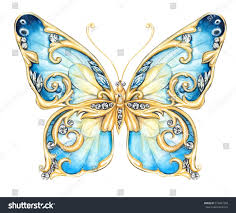 small blue butterfly stock illustration 514687708