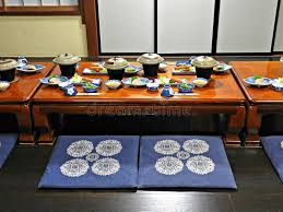 traditional japanese dinner table traditional japanese dinner takayama japan stock image image