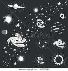 doodle galaxy invaders stock images royalty free images vectors