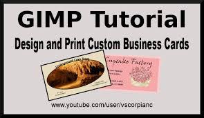 Design Your Own Business Cards Gimp Tutorial Design Your Own Business Cards For Printing By