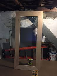 diy wood framed mirror the grain cottage perfect touch of