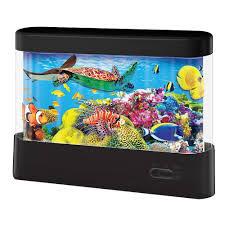 animated fish tank lamp kids bedroom night light home decor