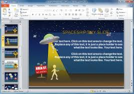 animated sci fi powerpoint template for kids u0026 educational