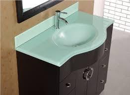 integrated sink vanity top adorna 40 single sink bathroom vanity set solid oak construction