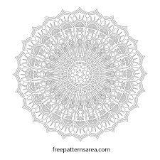 free printable mandala art drawing freepatternsarea