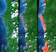 Phuket Thailand Map Space Images Tsunami Inundation North Of Phuket Thailand