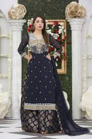 exclusive navy blue color bridal dress exclusive online boutique