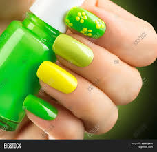 spring green manicure fresh nature trendy green nails beautiful
