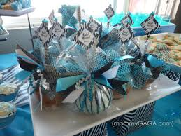 Blue Baby Shower Decorations Zebra Blue U003d Unique Baby Shower Theme For Boys Outdoor Decor