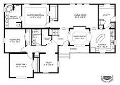 5 Bedroom Mobile Homes Floor Plans Manufactured Triple Wide Layouts Manufactured Home Floor Plans