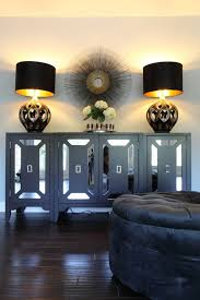 Buffet Lamps With Black Shades by Black Velvet Ottoman Contemporary Living Room For The Love