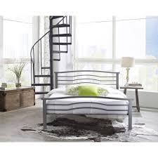 Silver Queen Bed Amazon Com Hanover Hbedmid Qn Midtown Metal Platform Bed Frame