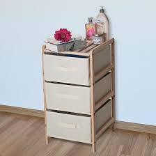 organization bins organization drawers with natural wood shelf and three fabric