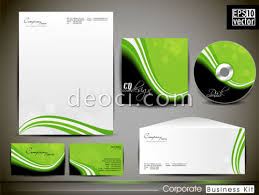 green squiggly enterprises vis design template business card