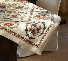 mila suzani embroidered table runner availble from potterybarn